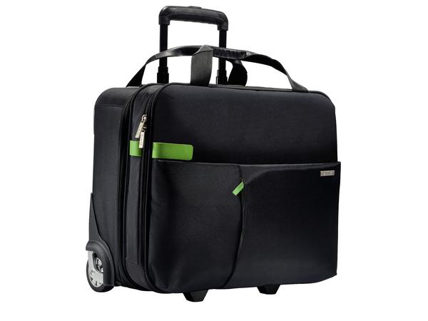 Leitz Complete Smart Traveller - Aufrecht - Echt Leder, Metall, Polyester - Schwarz