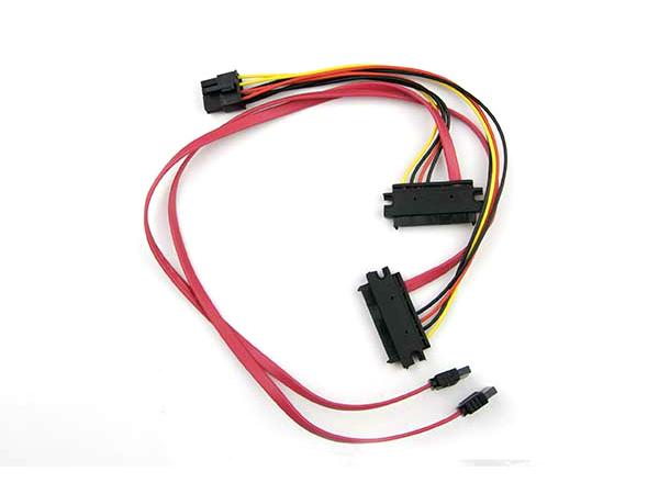 Supermicro CBL-SAST-0529, 2x SAS 29-pin, 2x SATA+8-pin, Schwarz, Rot, Gelb, 30/20