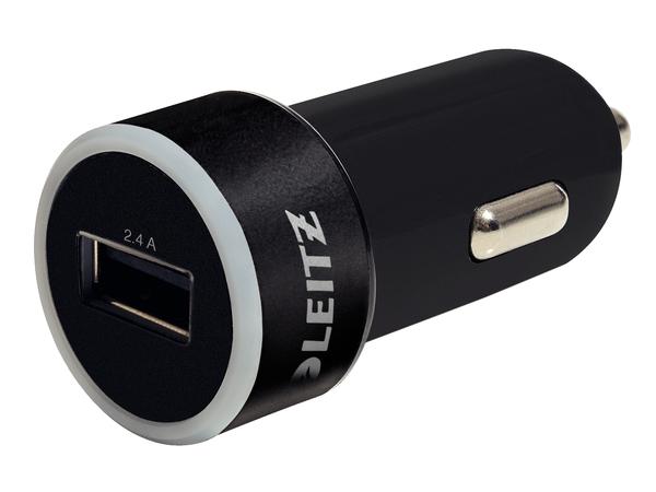 Leitz Complete universelles - Netzteil - Pkw - 2.4 A (USB (nur Strom)) - Schwarz