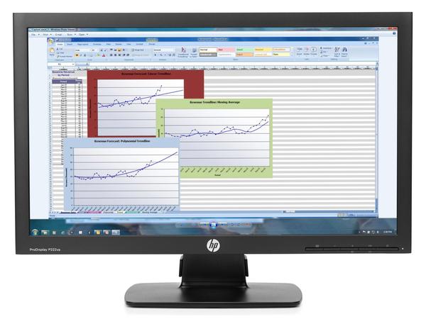 HP ProDisplay P222va - LED-Monitor - 54.61 cm (21.5
