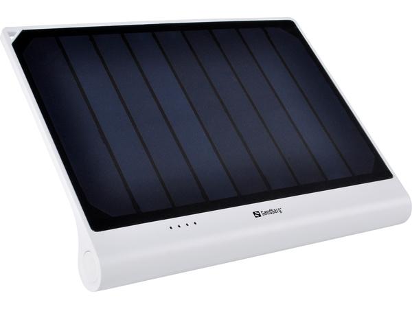 Sandberg Solar PowerBank XL - Externer Akku-Pack - solar/USB Li-Ion 5000 mAh - 2.1 A (USB (nur Strom)) - auf Kabel: Micro-USB