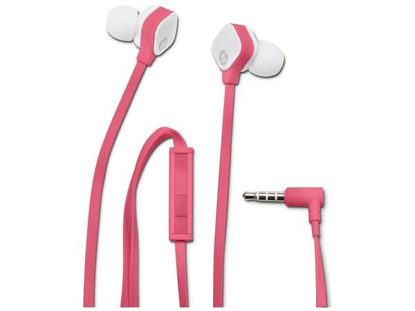 HP H2310 - Ohrhörer mit Mikrofon - im Ohr - Fuchsie Koralle