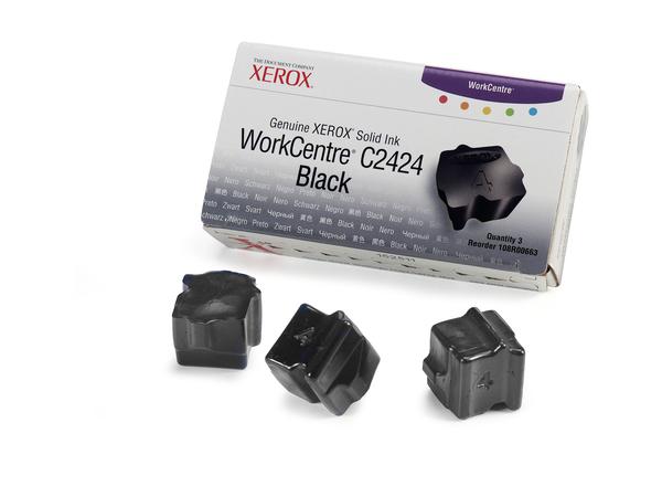Xerox Genuine Xerox - 3 - Schwarz - feste Tinten - für WorkCentre C2424