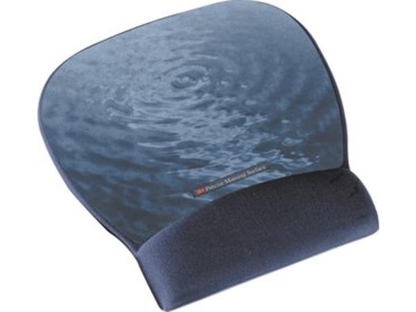 3M Precise Mousing Blue water - Mauspad mit Handgelenkpolsterkissen - Blau