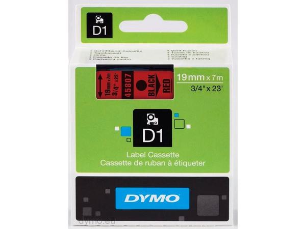 DYMO D1 - Glänzend - schwarz auf rot - Rolle (1,9 cm x 7 m) 1 Rolle(n) Band - für LabelMANAGER