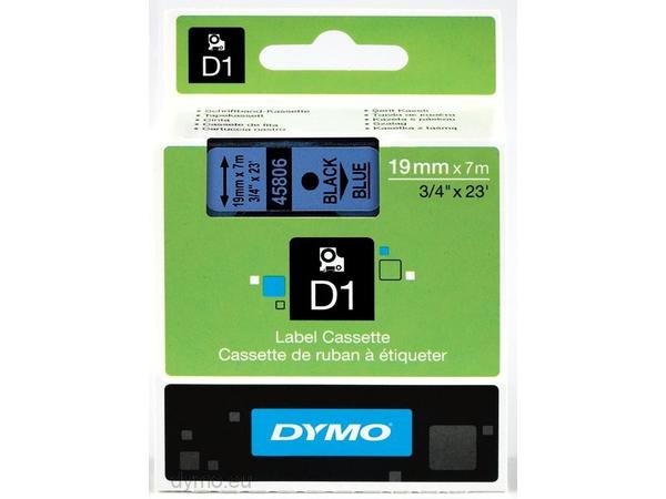 DYMO D1 - Selbstklebend - Schwarz auf Blau - Rolle (1,9 cm x 7 m) 1 Rolle(n) Etikettenband - für LabelMANAGER 360D, 420P, 420P Kit, 500TS, PC2, PnP
