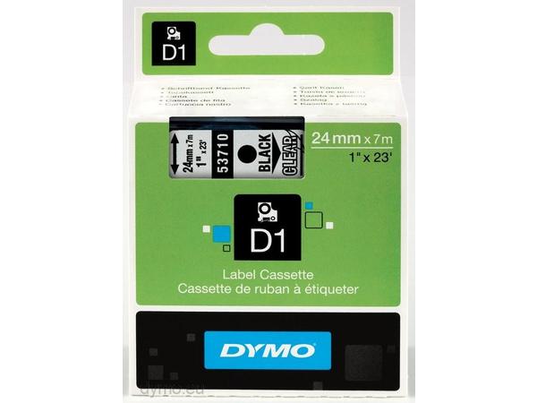 DYMO D1 - Selbstklebend - Schwarz auf Transparent - Rolle (2,4 cm x 7 m) 1 Rolle(n) Etikettenband - für LabelMANAGER 500TS, PnP