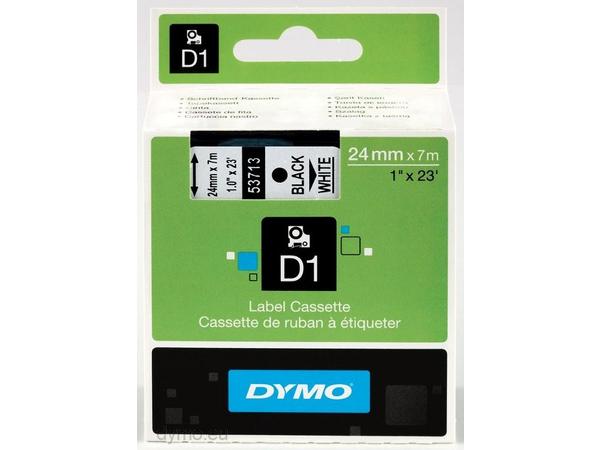 DYMO D1 - Tape - glossy - Schwarz auf Weiß - Rolle (2,4 cm x 7 m) 1 Rolle(n) - für LabelMANAGER