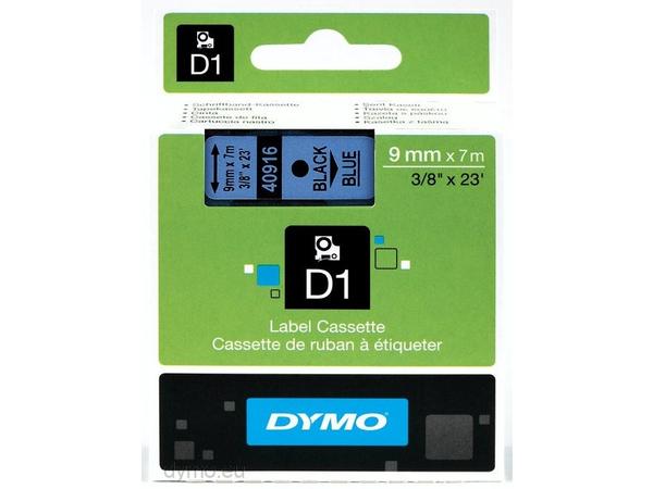 DYMO D1 - Selbstklebend - Schwarz auf Blau - Rolle (0,9 cm x 7 m) 1 Rolle(n) Etikettenband - für LabelMANAGER 120P, 210D, 220P, 350D, 450D; LabelPOINT 250, 350