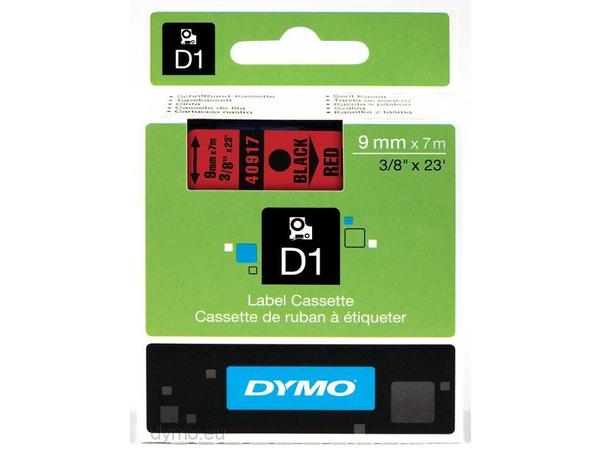 DYMO D1 - Tape - glossy - schwarz auf rot - Rolle (0,9 cm x 7 m) 1 Rolle(n) - für LabelMANAGER