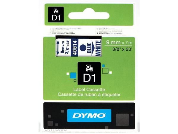 DYMO D1 - Selbstklebend - blau auf weiß - Rolle (0,9 cm x 7 m) 1 Rolle(n) Etikettenband - für LabelMANAGER 120P, 210D, 220P, 350D, 450D; LabelPOINT 250, 350