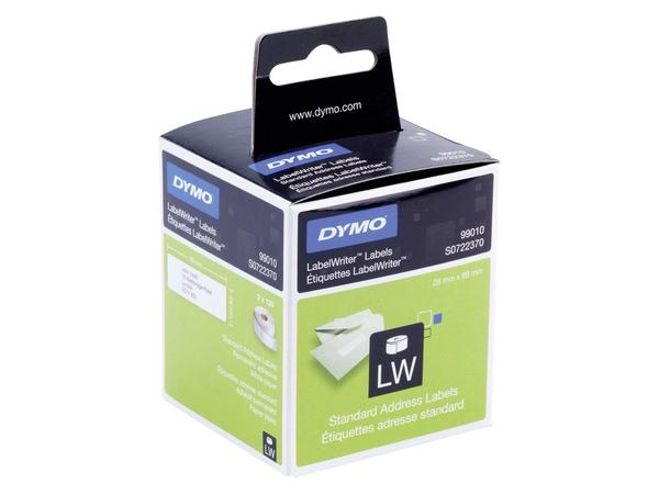 DYMO LabelWriter Address - Permanenter Klebstoff - weiß - Rolle (8,9 cm x 2,8 m) 260 Etikett(en) (2 Rolle(n) x 130) Adressetiketten - für DYMO LabelWriter