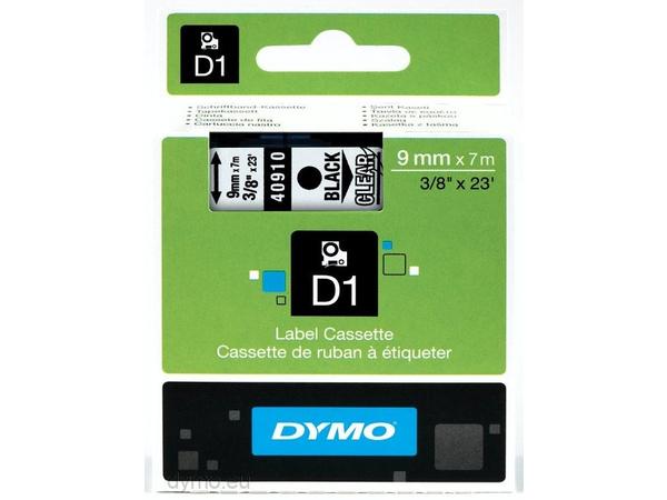 DYMO D1 - Selbstklebend - Schwarz auf Transparent - Rolle (0,9 cm x 7 m) 1 Rolle(n) Etikettenband - für LabelMANAGER 150, 350, 350D, 450, 450D, PC; LabelPOINT 250, 350