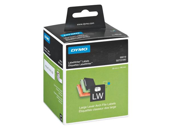 DYMO LabelWriter LAF Labels Large - Ordneretiketten - Schwarz auf Weiß - 59 x 190 mm 110 Etikett(en) ( 1 Rolle(n) x 110 ) - für DYMO LabelWriter 300, 320, 330, 400, 450, 4XL