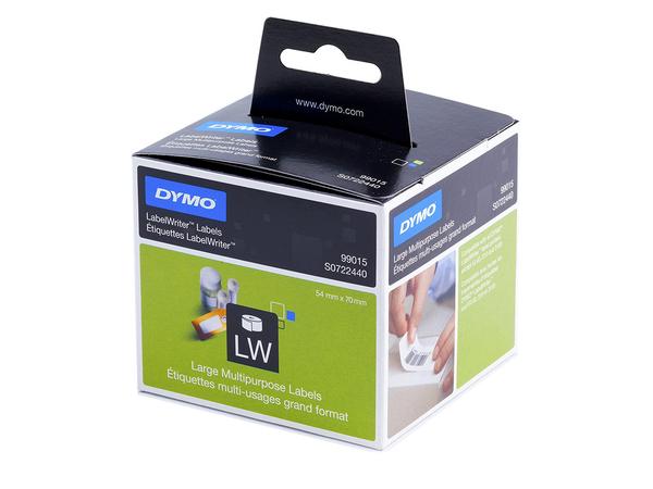 DYMO LabelWriter MultiPurpose - Papier - permanenter Klebstoff - weiß - 54 x 70 mm 320 Etikett(en) (1 Rolle(n) x 320) Mehrzwecketiketten - für DYMO LabelWriter 300, 320, 330, 400, 450, 4XL