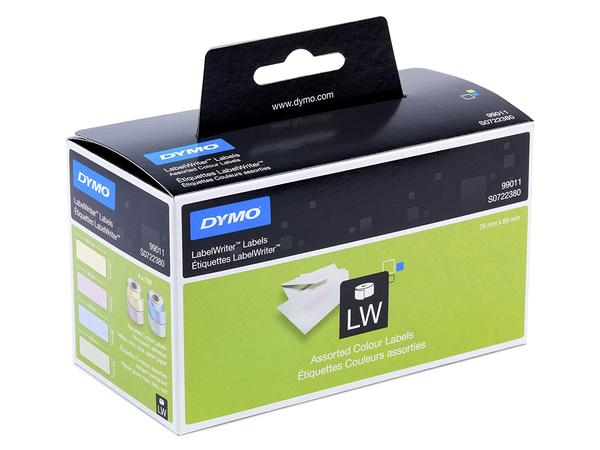 DYMO LabelWriter - Permanenter Klebstoff - Blau, Gelb, grün, pink - 28 x 89 mm 520 Etikett(en) (4 Rolle(n) x 130) Adressetiketten - für LabelWriter 300, 400, 450, 4XL