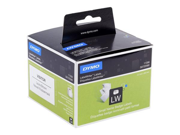 DYMO LabelWriter - Namensetiketten - weiß - 89 x 41 mm 300 Etikett(en) ( 1 Rolle(n) x 300 ) - für DYMO LabelWriter