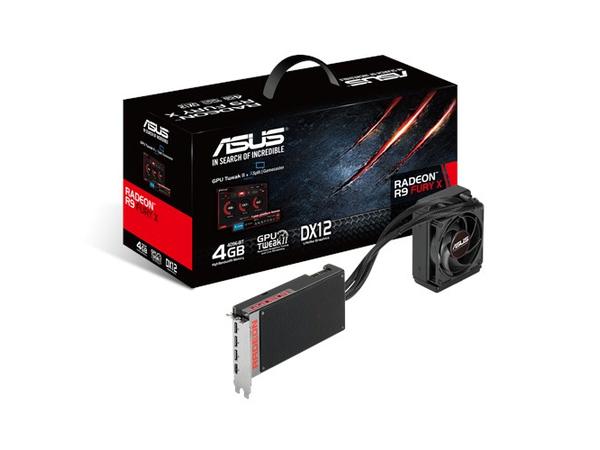 ASUS R9FURYX-4G - Grafikkarten - Radeon R9 Fury X - 4 GB HBM - PCIe 3.0 x16 - HDMI, 3 x DisplayPort
