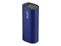 APC Mobile Power Pack - Ladegerät Li-Ion 3000 mAh - 1 A - 1 Ausgabeanschlussstellen (USB (nur Strom)) - Blau