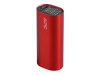 APC Mobile Power Pack - Ladegerät Li-Ion 3000 mAh - 1 A - 1 Ausgabeanschlussstellen (USB (nur Strom)) - Rot