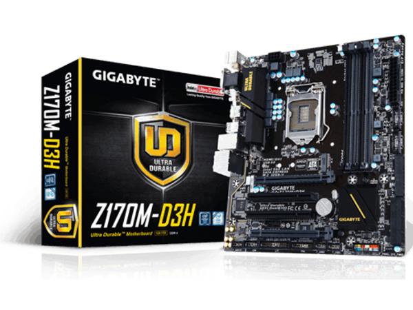 GIGA GA-Z170M-D3H S1151 Z170/DDR4/µATX
