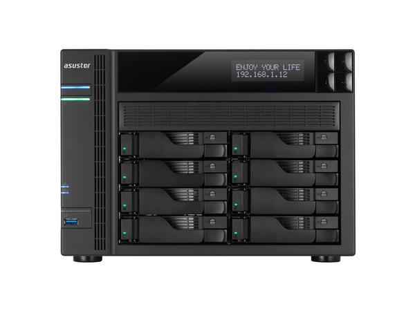 ASUSTOR AS-7008T - NAS-Server - 8 Schächte - SATA 6Gb/s / eSATA - RAID 0, 1, 5, 6, 10, JBOD - Gigabit Ethernet