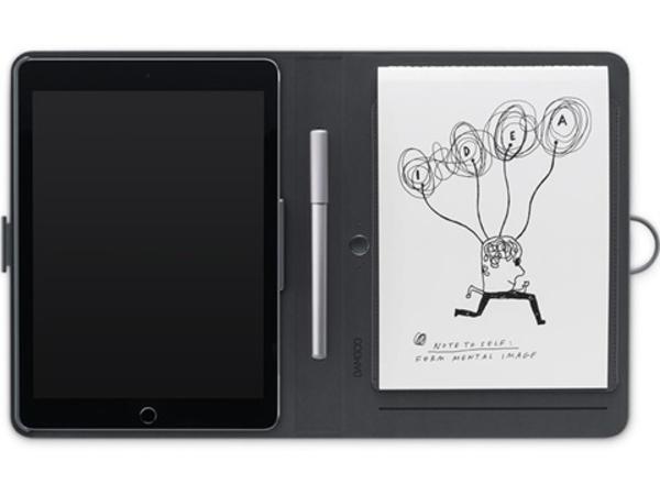 Wacom Bamboo Spark, mit Snap-fit - Flip-Hülle für Tablet - Grau - für Apple iPad Air; iPad Air 2
