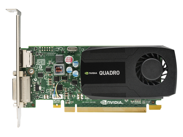 NVIDIA Quadro K420 - Grafikkarten - Quadro K420 - 2 GB DDR3 - PCIe 2.0 x16 Low Profile - DVI, DisplayPort