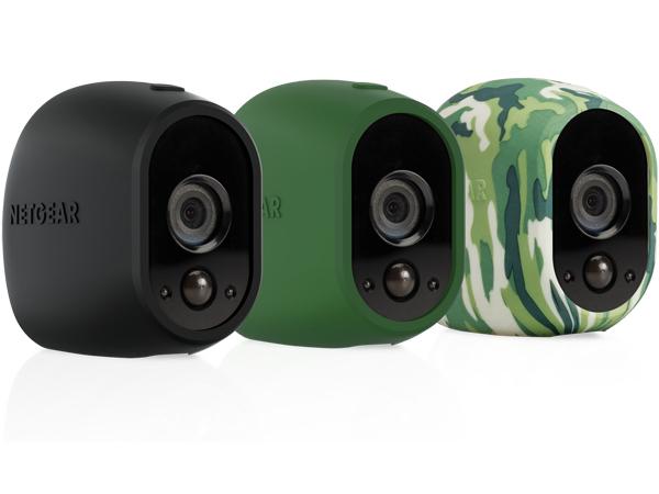 Arlo Replaceable Skins - Kameraschutzhülle - Schwarz, grün, Camouflage (Packung mit 3)