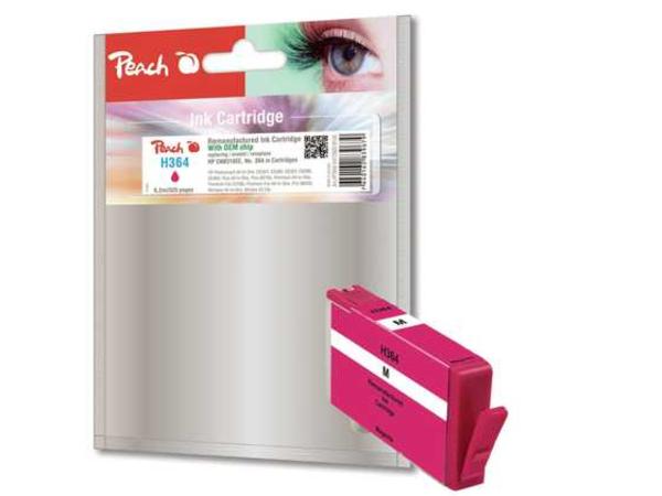 Peach 319126, Magenta, - HP DeskJet 3070 A - HP DeskJet 3070 Series - HP DeskJet 3520 e-All-in-One - HP DeskJet 3521 ..., 6,2 ml, 525 Seiten, No. 364, CB319EE