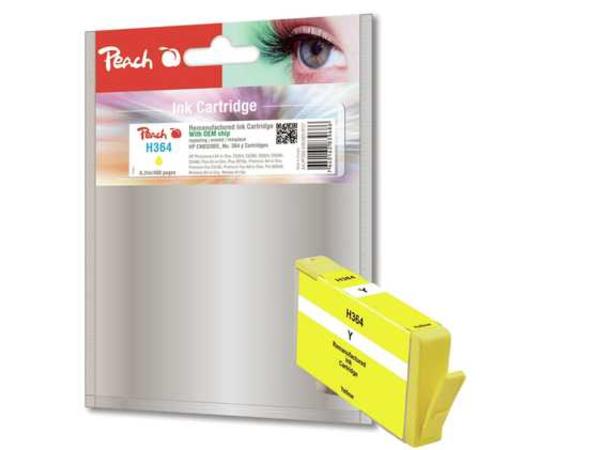 Peach 319127, Gelb, - HP DeskJet 3070 A - HP DeskJet 3070 Series - HP DeskJet 3520 e-All-in-One - HP DeskJet 3521 ..., 6,2 ml, 490 Seiten, No. 364, CB320EE