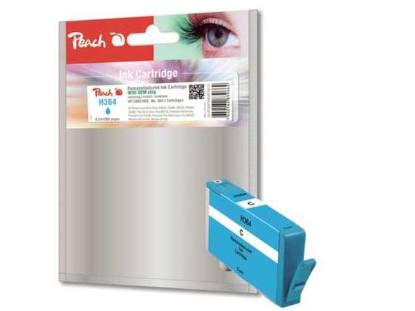 Peach - 6.2 ml - Cyan - Tintenpatrone (Alternative zu: HP 364) - für HP Deskjet 35XX; Photosmart 55XX, 55XX B111, 65XX, 65XX B211, 7510 C311, 7520