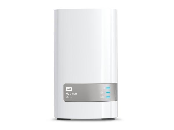 WD My Cloud Mirror Gen 2 WDBWVZ0040JWT - Gerät für persönlichen Cloudspeicher - 2 Schächte - 4 TB - HDD 2 TB x 2 - RAID 1
