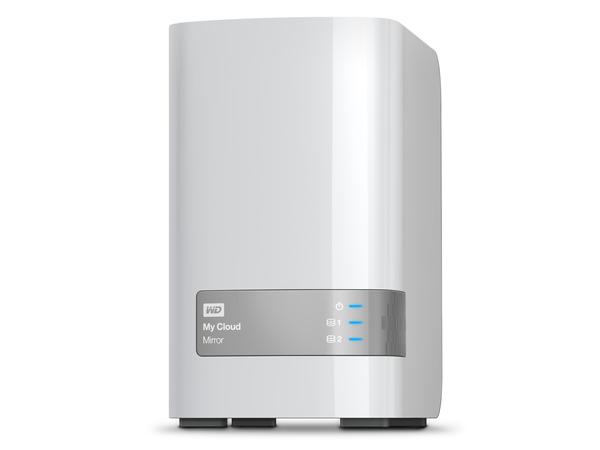 WD My Cloud Mirror Gen 2 WDBWVZ0080JWT - Gerät für persönlichen Cloudspeicher - 2 Schächte - 8 TB - HDD 4 TB x 2 - RAID 1