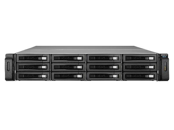 QNAP REXP-1220U-RP - Festplatten-Array - 12 Schächte (SATA-600 / SAS-3) - SAS 12Gb/s (extern) - Rack - einbaufähig