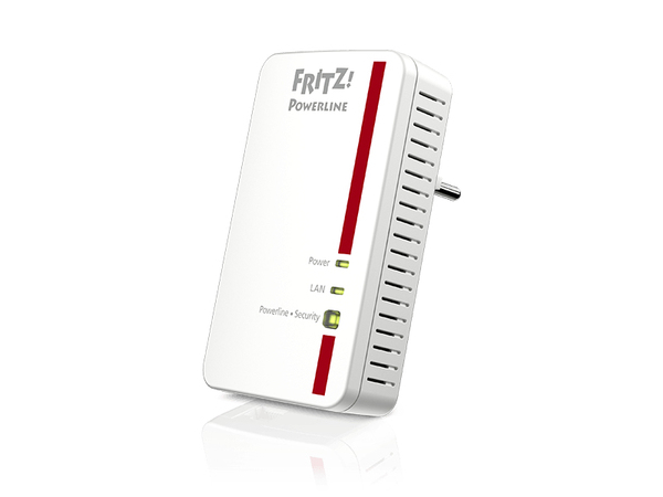 AVM FRITZ!Powerline 1000E - Bridge - GigE, HomePlug AV (HPAV) 2.0 - an Wandsteckdose anschließbar