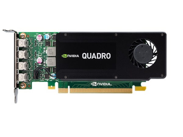 NVIDIA Quadro K1200 - Grafikkarten - Quadro K1200 - 4 GB GDDR5 - PCIe 2.0 x16 Low Profile - 4 x Mini DisplayPort