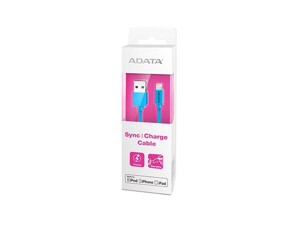 ADATA Apple Series - Lightning-Kabel - Lightning (M) bis USB (M) - 1 m - abgeschirmt - Blau