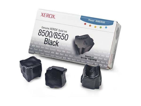 Xerox Genuine Xerox - 3 - Schwarz - feste Tinten - für Phaser 8500DN, 8500N, 8550DP, 8550DT, 8550DX