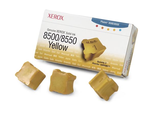 Xerox Genuine Xerox - 3 - Gelb - feste Tinten - für Phaser 8500DN, 8500N, 8550DP, 8550DT, 8550DX
