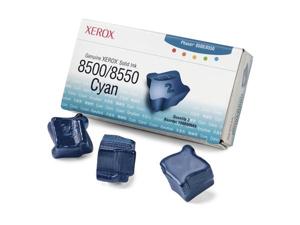 Xerox Genuine Xerox - 3 - Cyan - feste Tinten - für Phaser 8500DN, 8500N, 8550DP, 8550DT, 8550DX