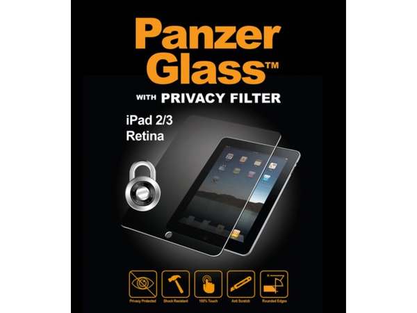 PanzerGlass with Privacy Filter - Sichtschutzfilter - für Apple iPad (3. Generation); iPad 2; iPad with Retina display (4. Generation)