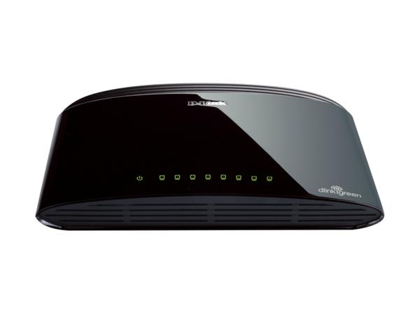 D-Link DES 1008D - Switch - nicht verwaltet - 8 x 10/100 - Desktop