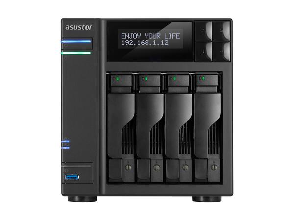 ASUSTOR AS6204T - NAS-Server - 4 Schächte - SATA 6Gb/s / eSATA 6Gb/s - RAID 0, 1, 5, 6, 10, JBOD - Gigabit Ethernet