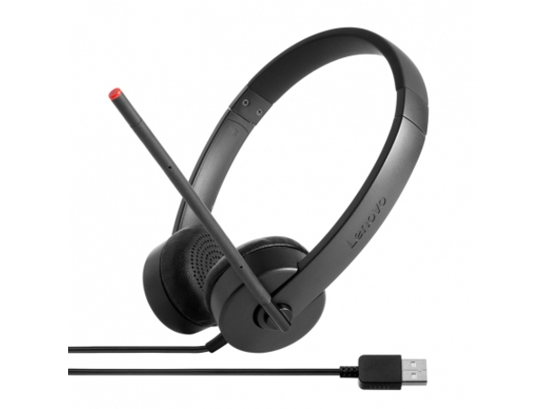 Lenovo Stereo USB Headset - Headset - On-Ear - für Miix 510-12; 720-12; ThinkPad L470; P51; T470; T570; V110-14; V110-17; V520-15; V520S-08