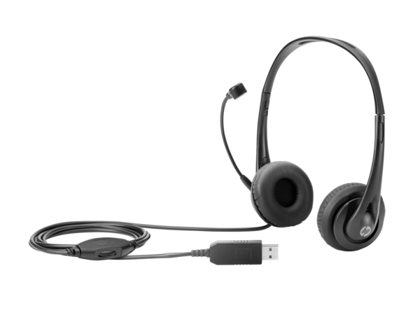 HP - Headset - On-Ear - USB - Black Jack - für EliteBook; ProBook 640 G2, 645 G2, 650 G2, 655 G2; x2