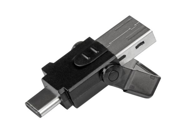 StarTech.com microSD auf USB 3.0 Kartenleser Adapter - für USB-C und USB-A fähige Computer - Kartenleser (microSD, microSDHC, microSDXC) - USB 3.0