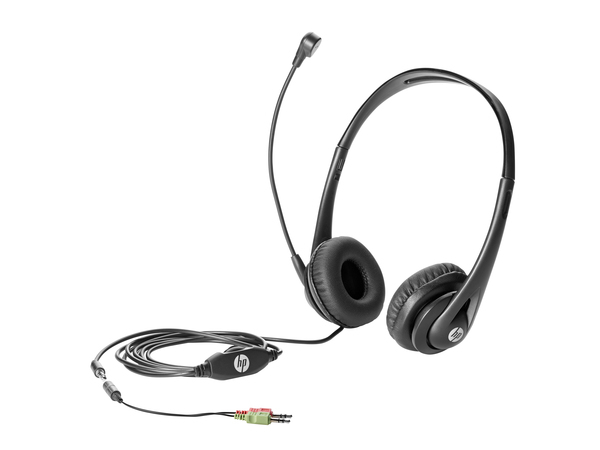 HP Business Headset v2, PC/Gaming, Binaural, Schwarz, HP 280 G1 MT; HP ProDesk 400 G1: MT, SFF, DM (Mini); HP ProDesk 400 G2.5 SFF, MT; HP ProDesk 405..., Verkabelt, ohrumschließend