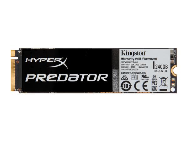 Kingston HyperX Predator - Solid-State-Disk - 240 GB - intern - M.2 2280 (M.2 2280) - PCI Express 2.0 x4