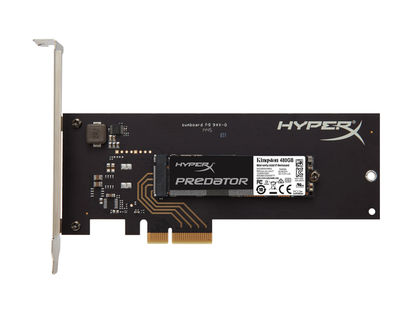 Kingston HyperX Predator - Solid-State-Disk - 480 GB - intern - M.2 2280 (M.2 2280) - PCI Express 2.0 x4
